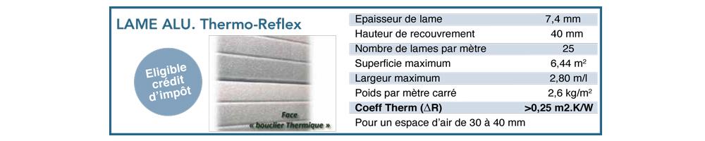 Bloc-baie - Lame Alu thermo-reflex