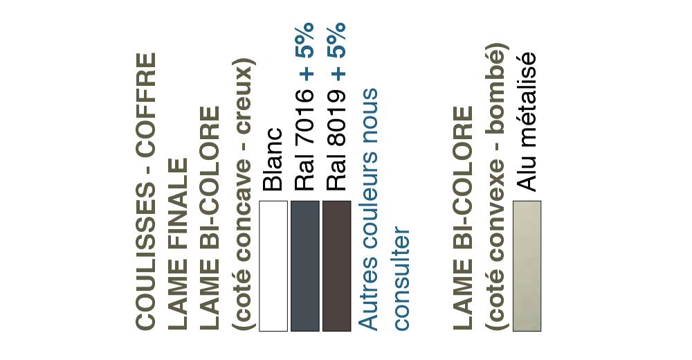 Bloc-baie - nuancier de Lame Alu thermo-reflex